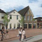 Impressie Stationsstraat Ermelo, winkel met appartementen