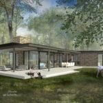 Impressie moderne bosvilla in Garderen